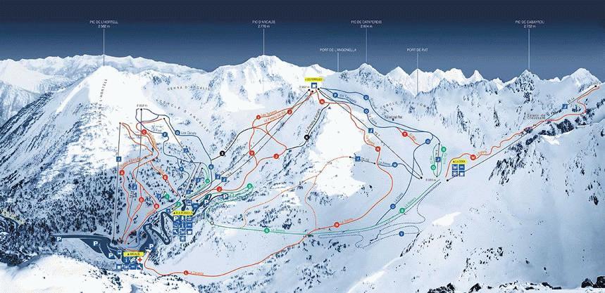 Arcalis Andorra Piste Map