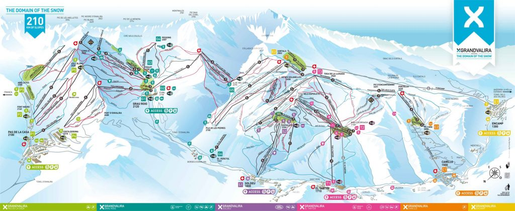 Grandvalira Andorra Piste Map